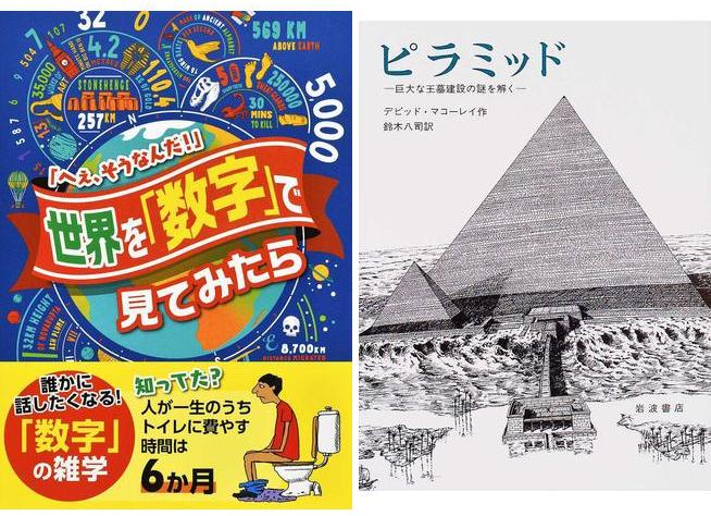 【おすすめの本】《世界を「数字」で見てみたら~へぇ、そうなんだ!~》《ピラミッド~巨大な王墓建設の謎を解く~》